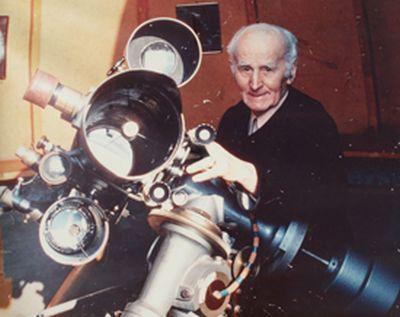 Helmrich Lambrecht am Teleskop